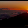 Sunrise at Haleakala Crater Hawaii.